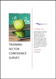 Training Sector Confidence Survey